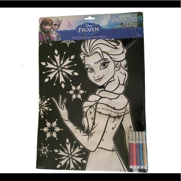 Disney Office New Disney Frozen Velvet Coloring Sheet Poshmark